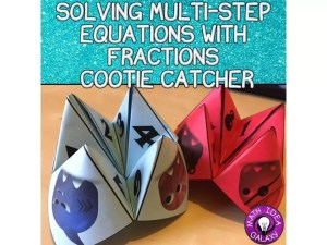 Check out this fun partner game, plus 10 other easy to use activities for teaching students all about solving multi-step equations.