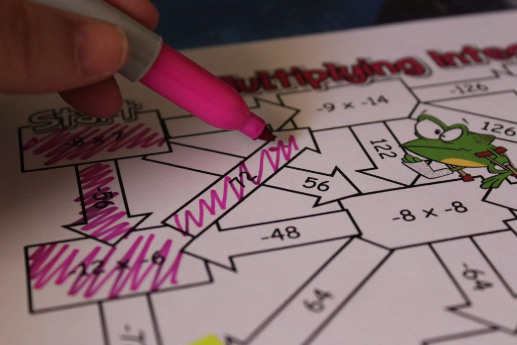 Multiplying and dividing integers maze activities are a great way to get students practice with operations with integers. Check out all 12 multiplying and dividing integers activity ideas and resources, including FREE download, online resources, and time-saving printables.