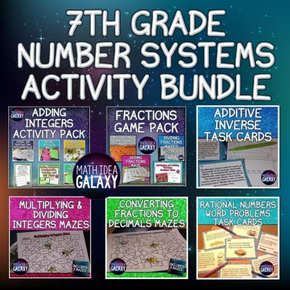 Collection of time saving activities for teaching 7th grade number systems math concepts.