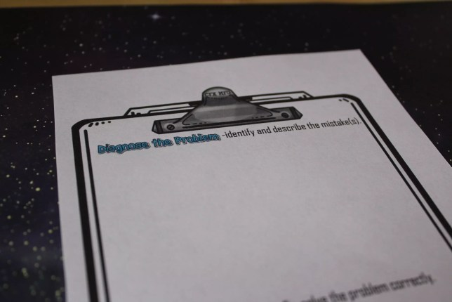 Diagnose the problem freebie- perfect for practice with two-step equations. Check out all 12 two step equation activity ideas!