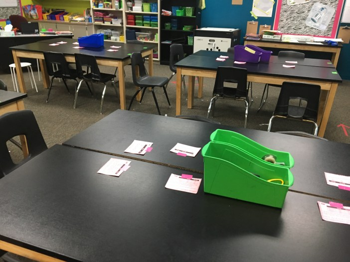 Playing SCOOT with two way tables task cards. Task cards give students a variety of ways to get their two way tables practice. Check out all 11 two way tables activities, including 3 FREE two way tables downloads.
