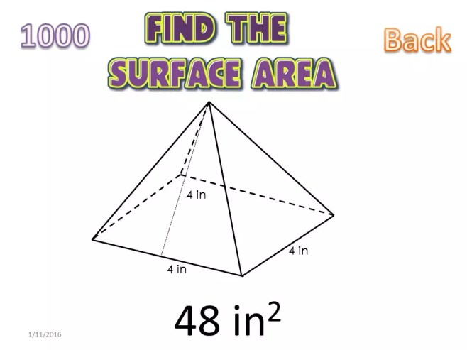 This easy to play surface area knockout game gets students great practice. This is a perfect test review activity. Check out all 11 surface area activity ideas!