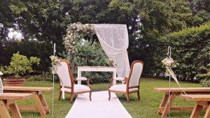altare matrimonio bohemien