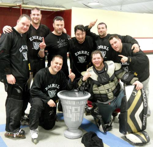 You don't have to be the prettiest team to win the Cup. Just the hardest working. EMRHL WINTER 2013 CHAMPIONS