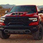 Red 2021 Ram 1500 Rebel TRX front view