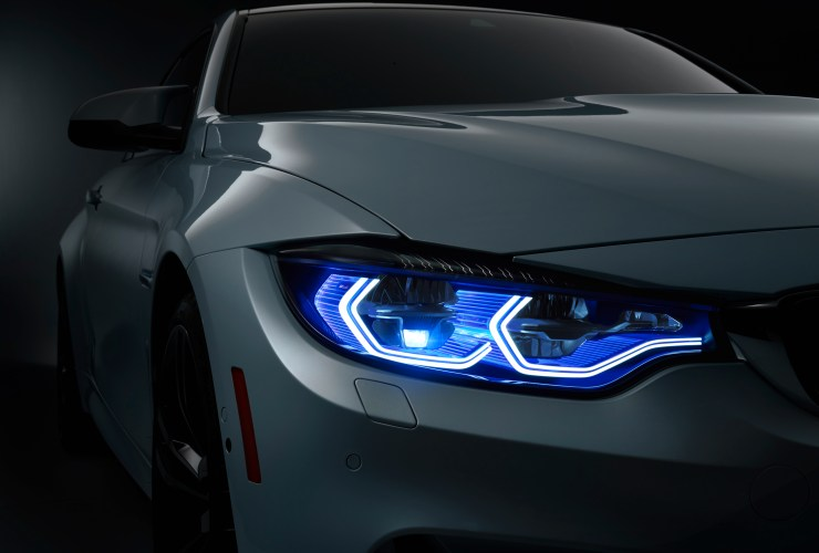 new bmw laser headlights