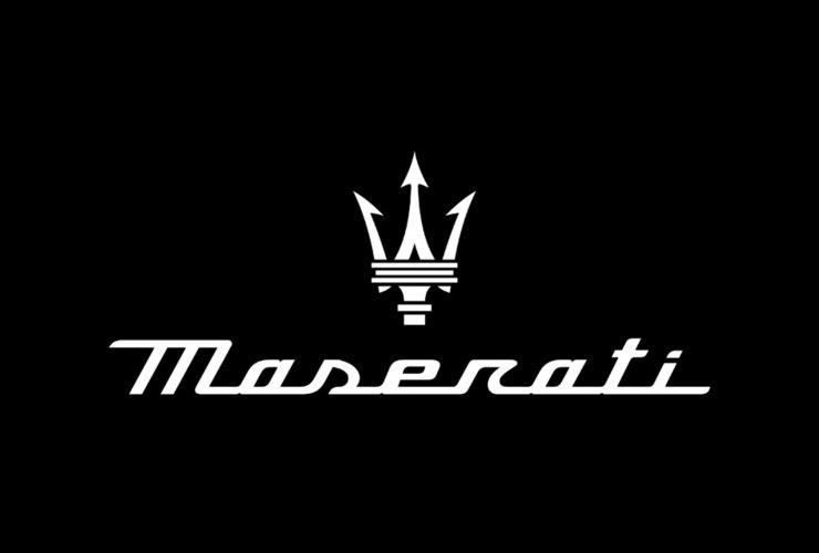 maserati logo black