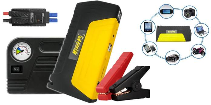 HyperPS 20000mah Multi Function Car Jump Starter Kit Review