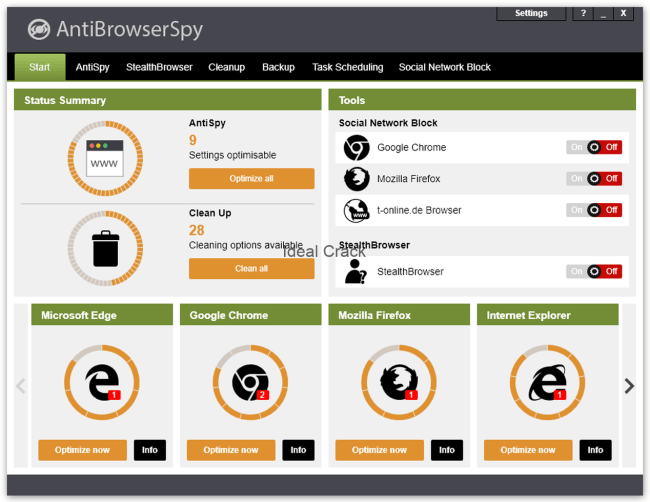 AntiBrowserSpy Pro 2019 (264) License With Activation key