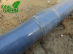 Koiteich Schwimmteich Verrohrung Bodenablauf Verklebung PVC