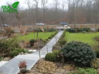 Treppe Granit Weg aus Granitplatten Blick vom Haus