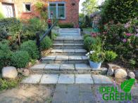 Treppe Granit Weg aus Granitplatten vorher