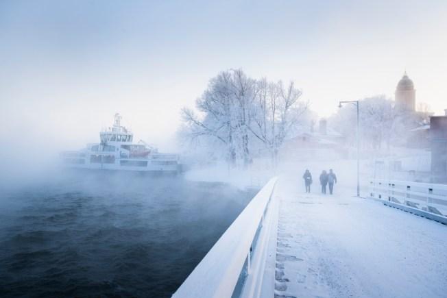 Suomenlinna talvella.