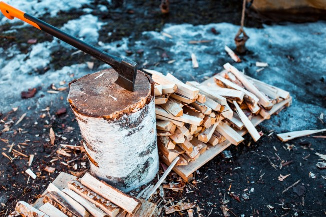 Firewood at Helsinki Sauna Day. Image: Eetu Ahanen / Helsinki Marketing
