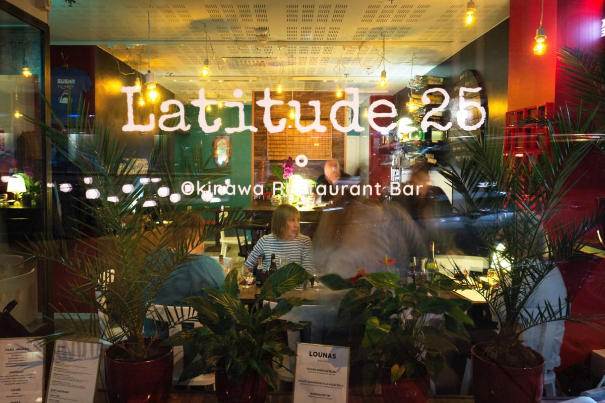Ravintola Latitude 25 - makuja Okinawan saarelta