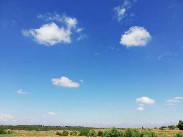 sky blue background