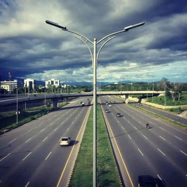Islamabad Expressway and Beautiful clouds