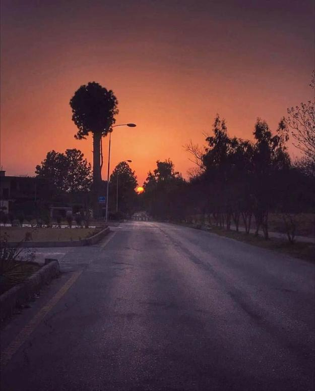 Sunset view in Islamabad