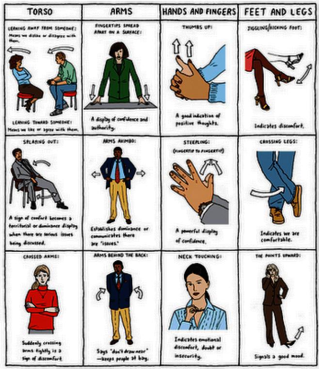 Body Language Chart