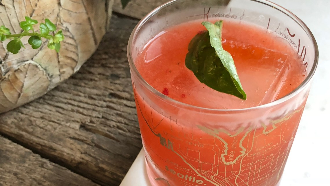 Tipsy Strawberry Basil Lemonade Cocktail