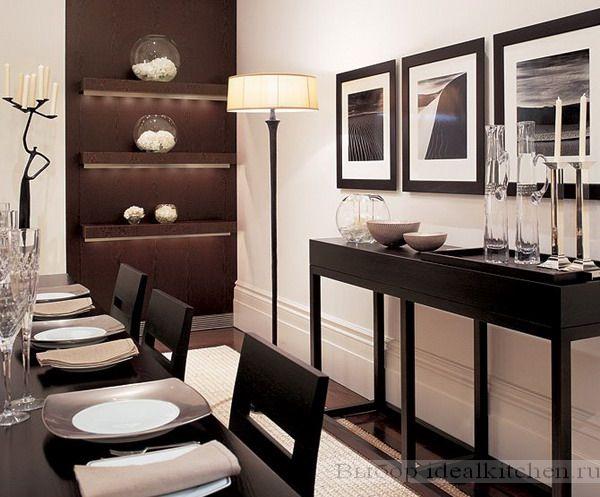 красивая столовая в современном стиле