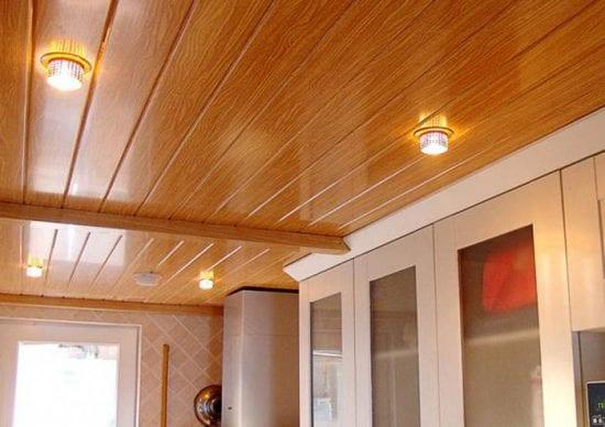 Scegliere un soffitto da pannelli di plastica in cucina