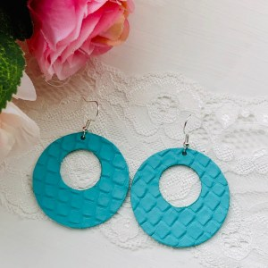 Turquoise Snake print Hollow Rings Collection