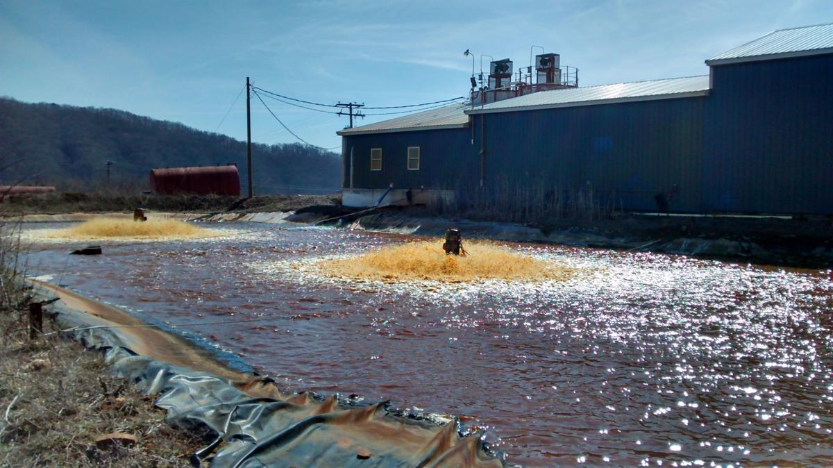 An acid mine drainage treatment plant near Freeport, Pennsylvania