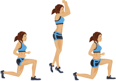 Image result for Jumping Alternating Lunges