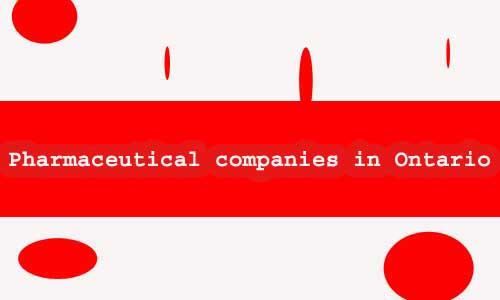 pharmaceutical companies in Ontario