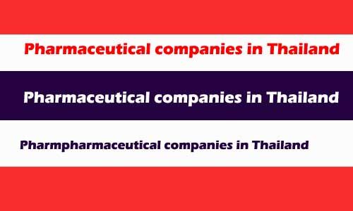 pharmaceutical companies in Thailand