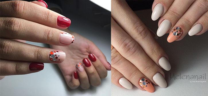 дизайн ногтей с ромбиками 2