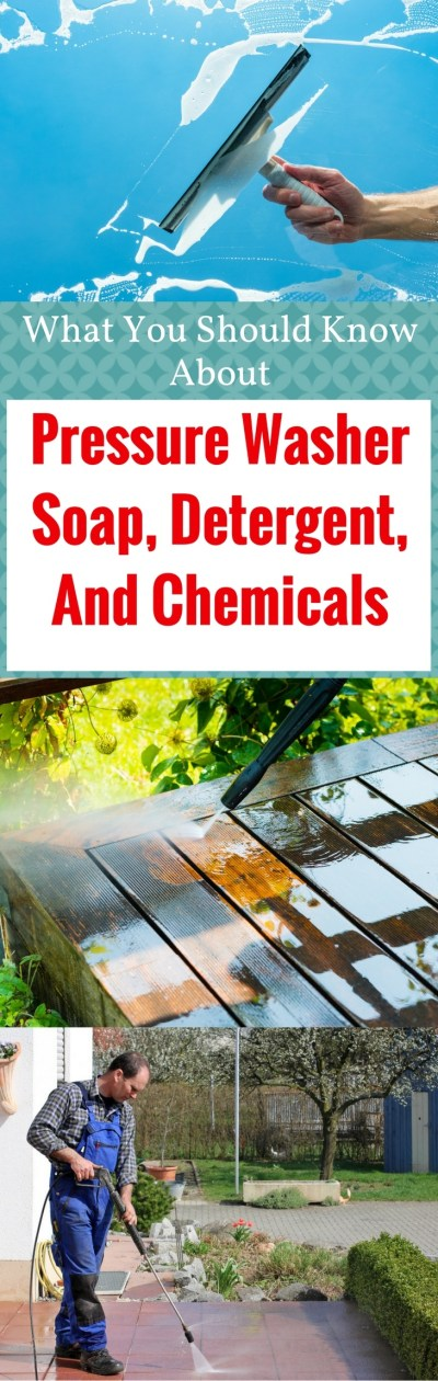 pressure washer soap, detergent, and chemicals pin it