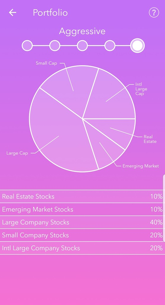 Acorns Review Asset Allocation
