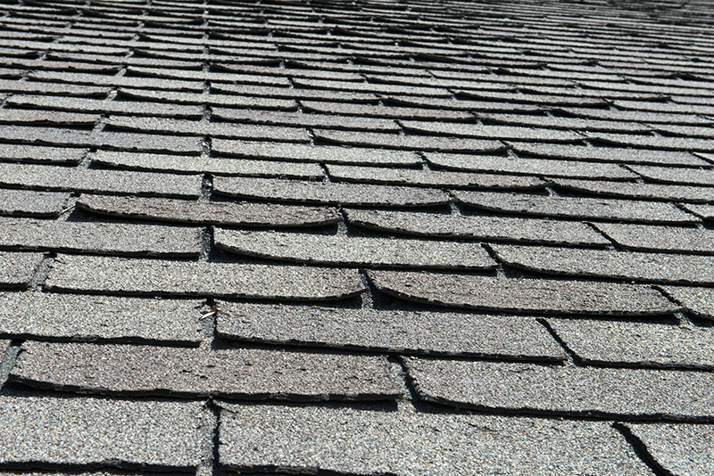 Curling Shingles during roof inspection