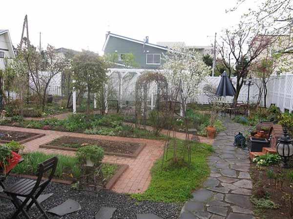 Utformingen av hagen og hagen gjør det selv bildet