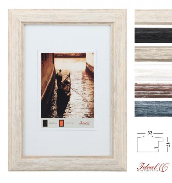 Hr 50 Holz Bilderrahmen In 13x18 Cm Bis 60x80 Blau Braun Grau Natur Schwarz Weiß