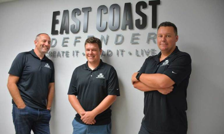Scott Wallace, Tom & Elliot Humble - Founders of East Coast Defender