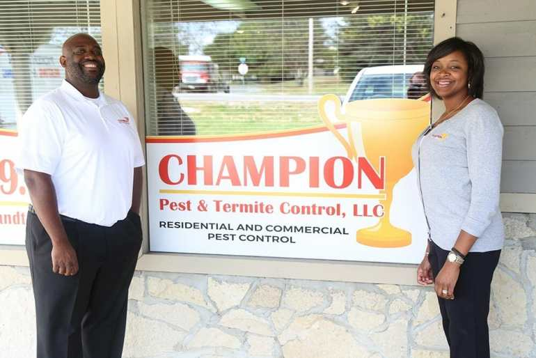 Helen and Dwight - Co-owners of Champion Pest & Termite Control