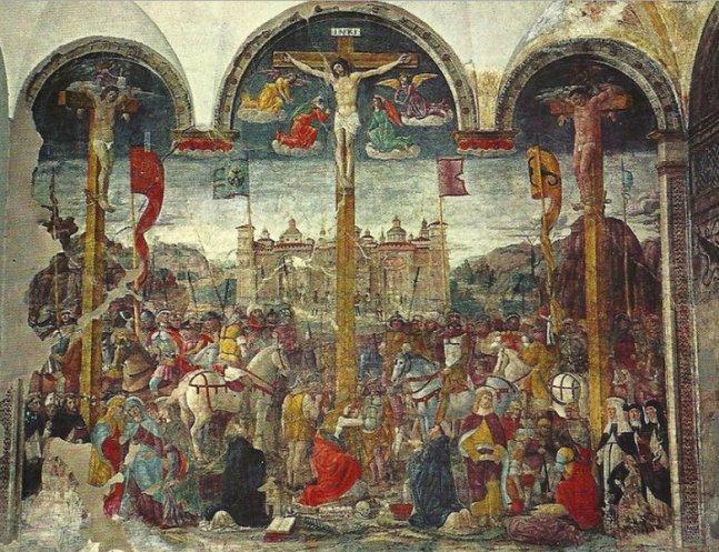 Crucifixion, Donato Montorfano, Santa Maria delle Grazie