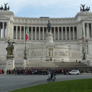 La Piazza Venezia en Roma