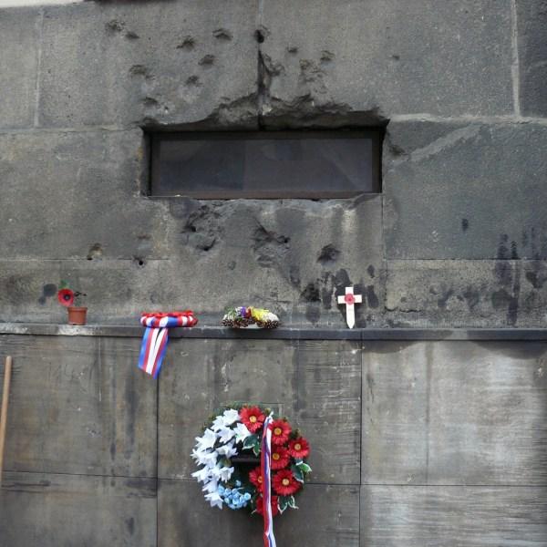Las marcas de la guerra que aún perduran en el edificio