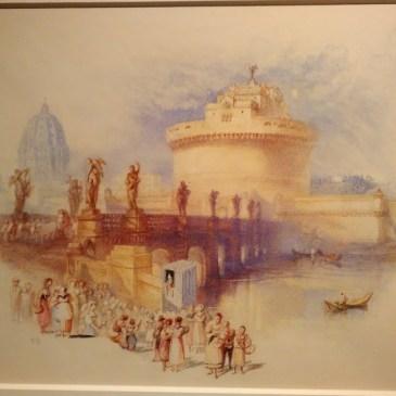Visitando la exposición de acuarelas de Turner en el Museo Nacional de Bellas Artes