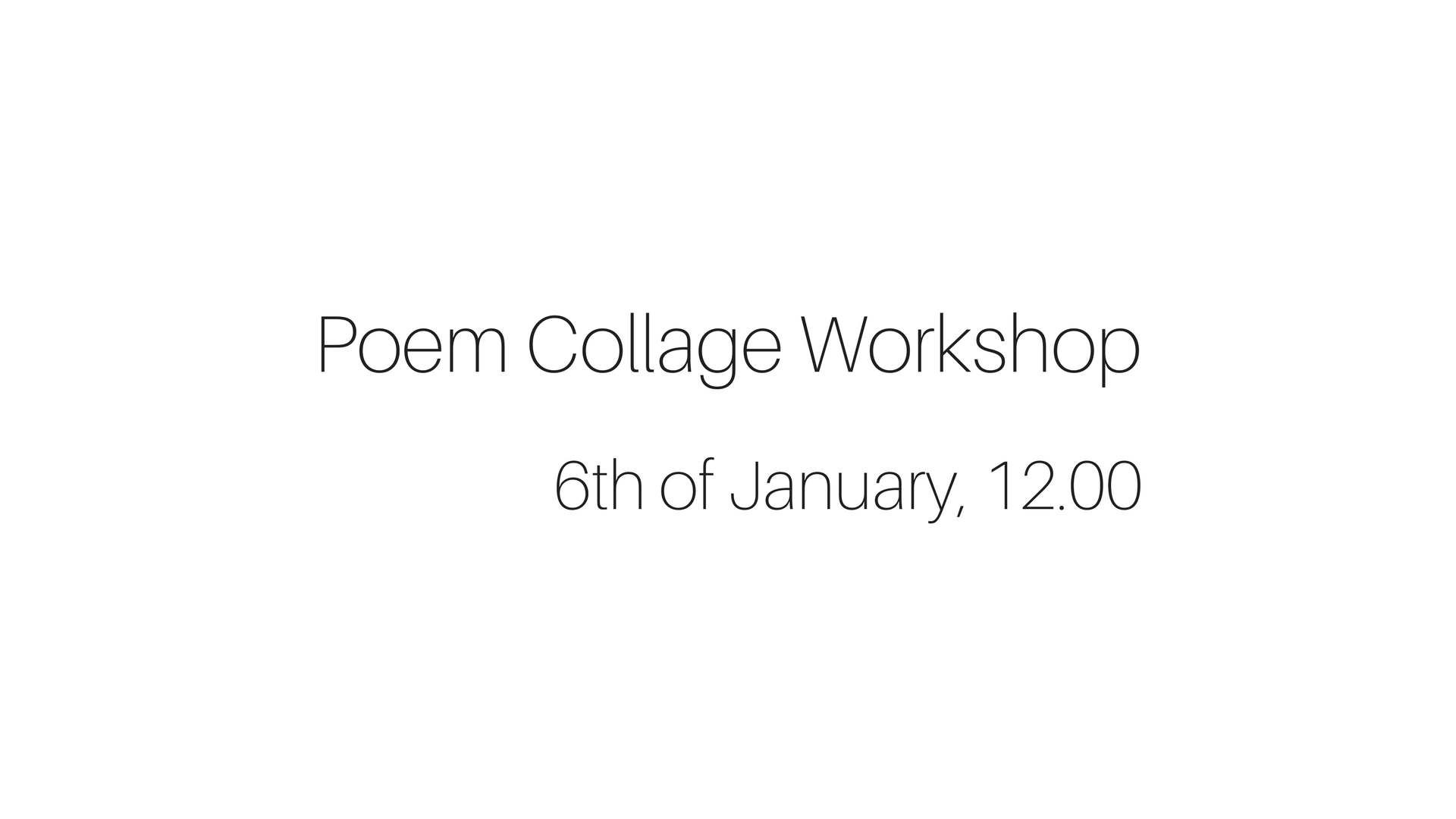 poem collage workshop