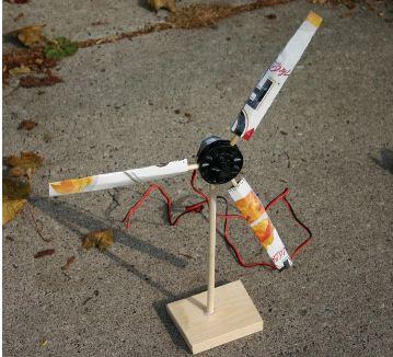 Model wind turbine ideas inspire for Best dc motor for wind turbine
