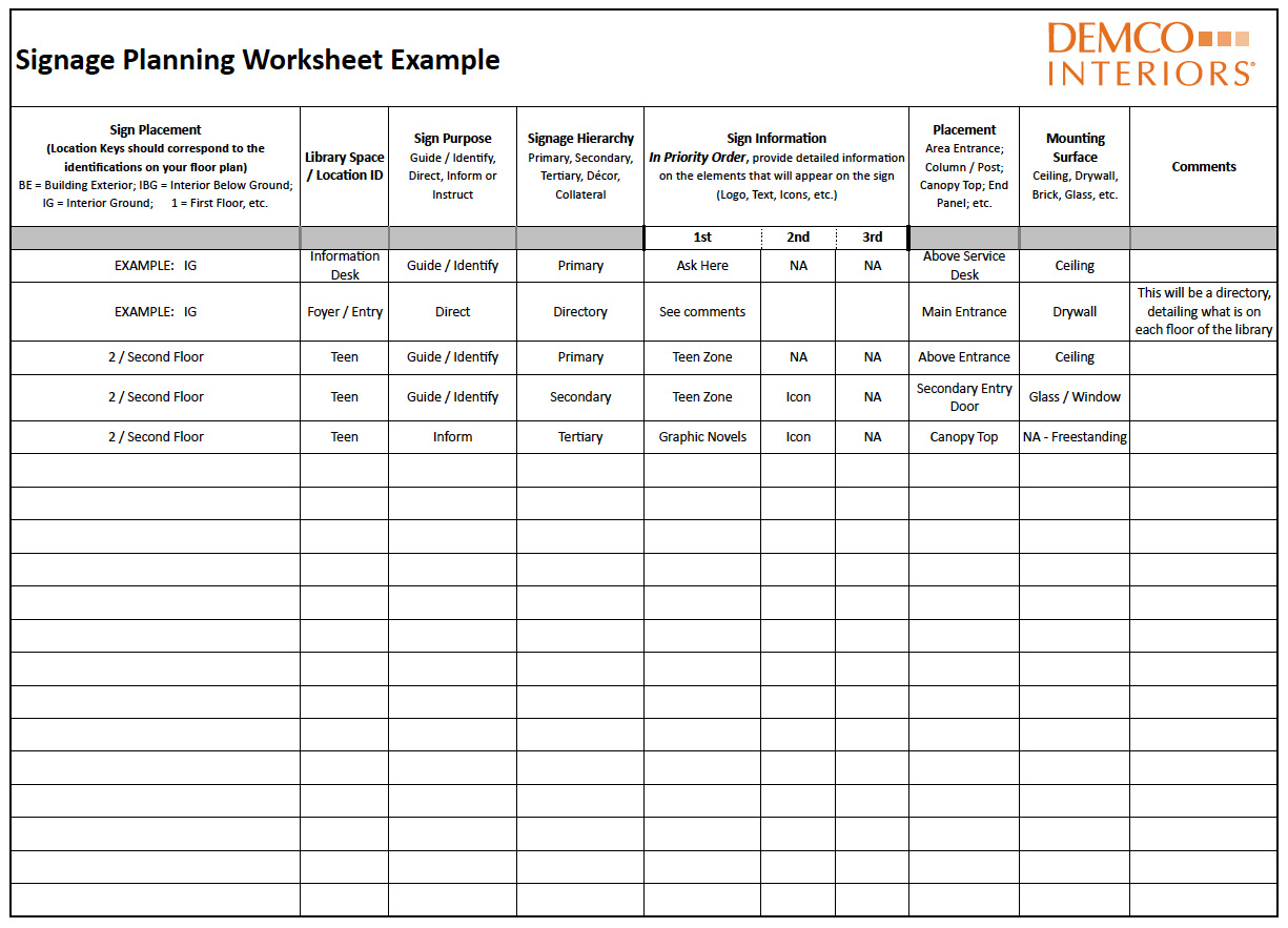 Worship Service Planning Worksheet