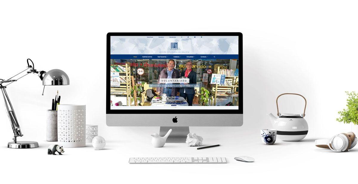 Página web ASDEGAL - diseño y desarrollo en WordPress