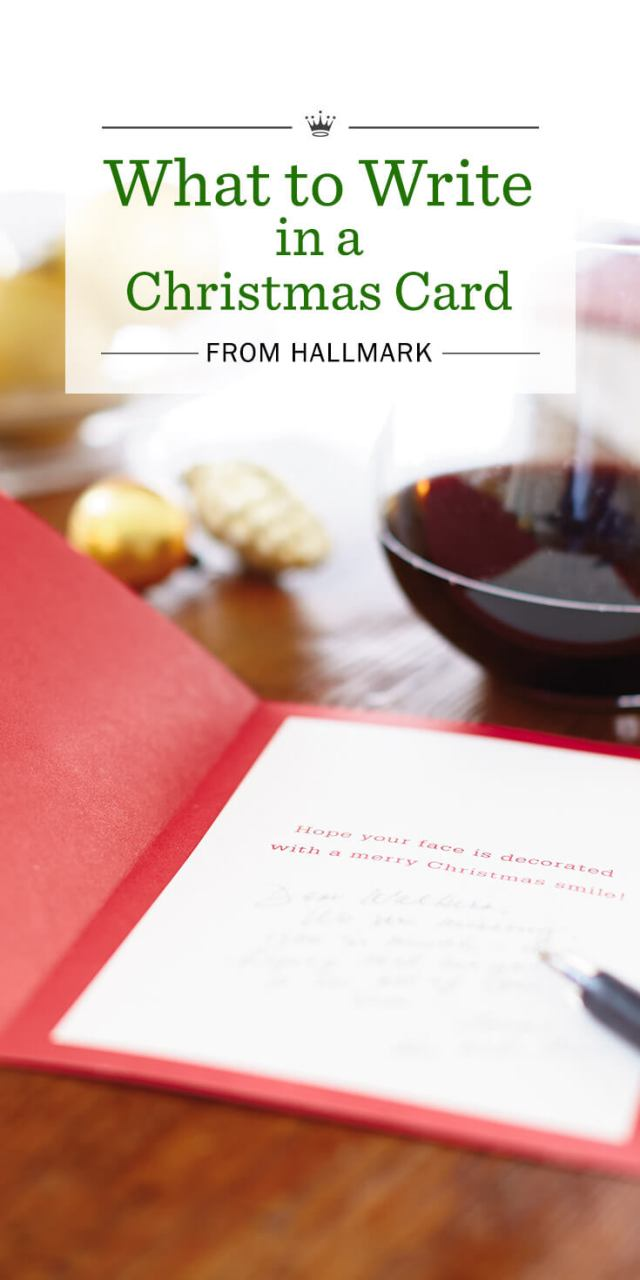 Christmas Wishes: What to Write in a Christmas Card  Hallmark