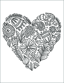 coloring pages for valentines day printable # 5