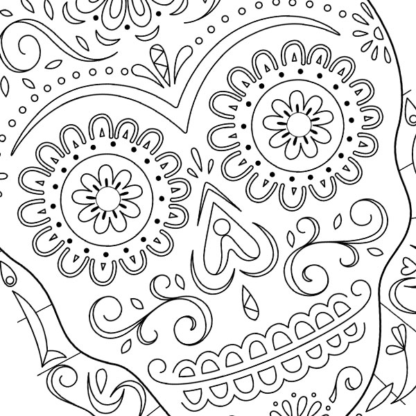 skulls coloring pages # 23